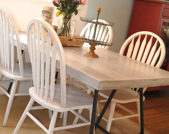oak wood dinning table rustic table reclaimed wood table grey weathered wood