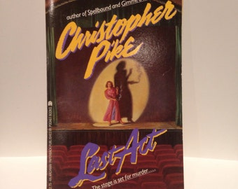 Recycled 80s Teen Horror Christopher Pike Blank Spiral Notebook