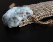Larimar Large Raw Tumbled Stone, Dolphin Stone, Caribbean Stephilia's Stone, 22.7 Grams