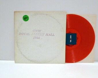 Bob Dylan Vinyl Record Orange Colored Album Vintage 1971 GWW Royal Albert Hall 1966 Live Concert Trade Mark of Quality Unofficial Recording