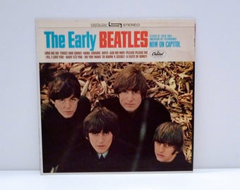 Beatles Vinyl Record Album The Early John Lennon Paul McCartney George Harrison Ringo Starr Fab 4 British Rock Band Vintage 1981 Purple Logo