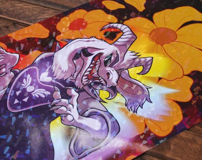 Sparkle Asriel Dreemurr A4 Print