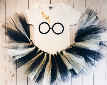 Harry Potter onesie and tutu