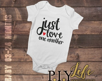 Baby   Just love one Another Baby Bodysuit DTG Printing on Demand