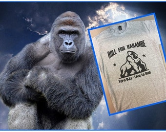 Roll For Harambe t-shirt BY TORO BJJ