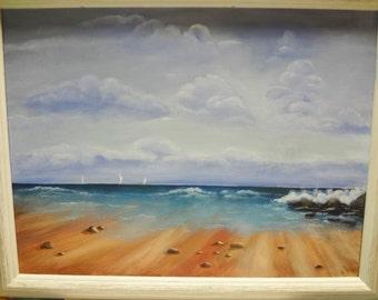 """Original acrylic painting """"Beach"""""""