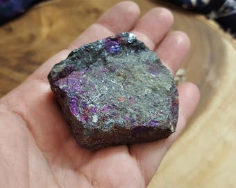 Peacock Rock (Chalcopyrite) ~ 1 B/C grade Reiki infused rough stone 2x1.9x.7 inches (PO07)