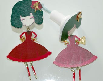 Ribbon girl door knob