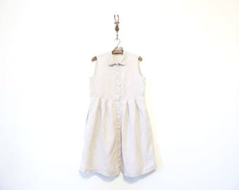 Short Linen Babydoll Dress / Natural Linen Dress