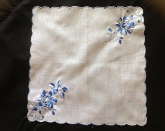 Something Blue Hankie handkerchief Wedding