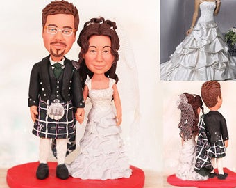 Personalised Scottish Cake Toppers (Free shipping)