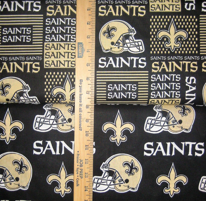 Nfl Logo New Orleans Saints Black Amp Gold Cotton Fabric By