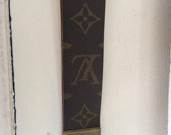 Key Fob brass finished hardware key chain made of Louis Vuitton canvas #3166