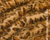 Faux Fur Orange and Brown Spot Leopard - Fabric - Shag, Crafts, Sewing, Baby & Pet  Photo Props
