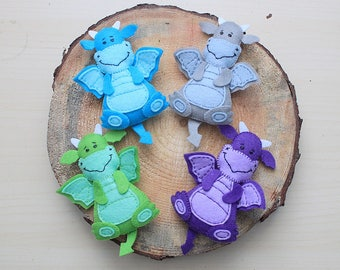 Dragon ornament medieval dragon miniature Fantasy mobile Dragon plush fairytale nursery Dragon nursery dragon themed party felt ornament