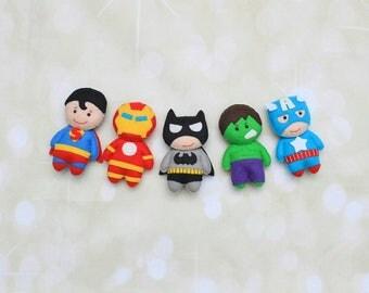 Felt Superhero doll Batman plush the Avengers superhero ornament Iron man plush baby Marvel superhero plush Captain America doll