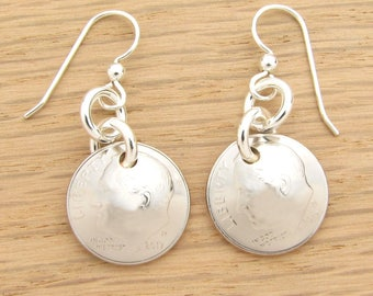 2017 US Dime Earrings for Graduation, New Mom or Grandmother Gift Coin Jewelry
