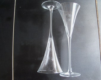 Waterford Crystal Pair Of Tall Celebration Flutes