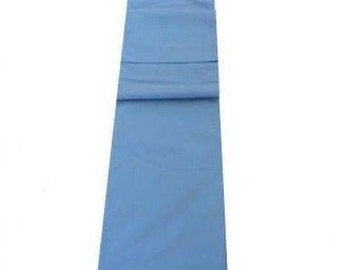 Mid Blue Table Runner Linen Cotton Feel / Poly Mix
