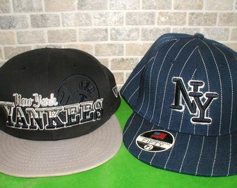Lot of Two New York Yankees Baseball Hats Snap-back and Fitted, New Era