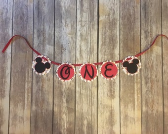 "First birthday ""ONE"" banner- for highchair"