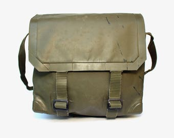 Messenger bag rubberized backpack waterproof messenger bag crossbody bag military backpack army bag backpack german military bag vintage
