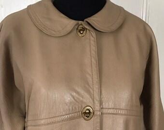 Sills by Bonnie Cashin Soft Leather Car Coat