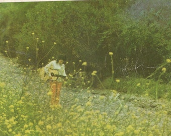VINTAGE FOLK MUSIC Book.Book two 1971. Words and Music and beautiful photos.. George Harrison, Joni Mitchell, Gregory Peck, Tuesday Weld