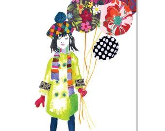 Birthday Balloons - A3 Art Print | Made in Australia