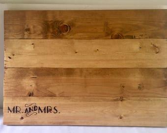Rustic Wood Guest Book Alternative