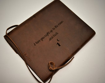 Writer's Log Journal, Leather Journal, Personalized Journal, Engraved Journal, Diary, Notebook, Personalized Engraved Diary, Genuine Leather