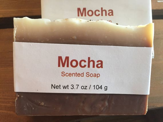 Mocha Scented Cold Process Soap with Cocoa Butter