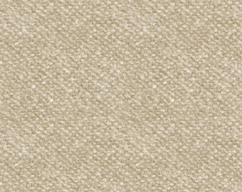 Maywood Woolies Cream Tan Ecru Nubby Tweed FLANNEL Fabric MASF-18507-E BTY