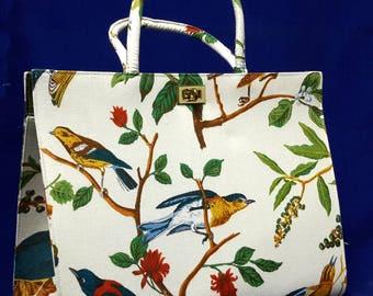 Margaret Smith Of Gardiner Maine Vintage Purse Handbag Bird And Berries 1960s