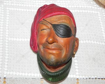 Bossons Congleton England Smuggler Pirate With Eye Patch Chalkware Wall Hanging