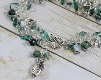 Ocean Greens Jangle Bracelet