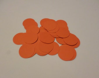 "48 1"" card stock circles, orange, for embellishing, card making, scrapbooking, papercrafting"