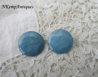 Vintage blue earrings clip ons