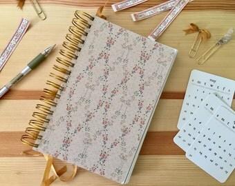 "Weekly Planner, Blog Planner, Planning Journal, Bullet Journal;  5 1/2"" x 8 1/2""; 52 weeks, 13 month calendar"