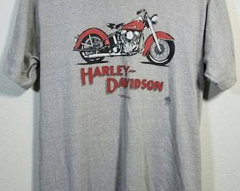 Vintage 1983 Harley Davidson Motorcycle T-Shirt Size Large