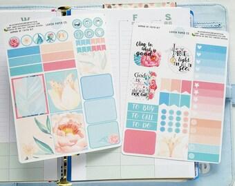 Woman Of Faith Planner Sticker Kit by Lavish Paper Co. | for Erin Condren, Mormon Mom Planner, inkWELL Press, Happy Planner & More!
