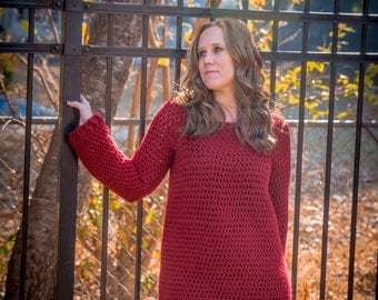 Instant Dowload- Crochet Pattern- Raleigh Tunic