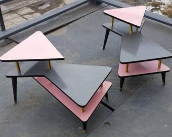 Amazing Retro Formica Side Tables - Jetsons!