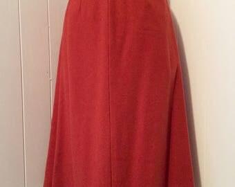 Vintage 1950s Rust Orange Pencil Skirt
