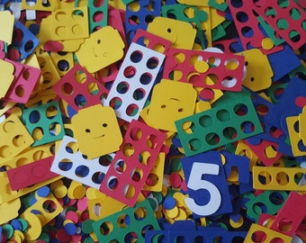 Lego Brick Birthday Confetti