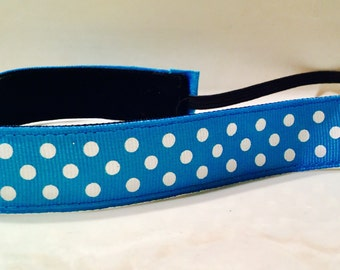 Turquoise/White Dots