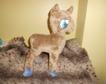 Brown Hooved Elderly Unicorn My Little Pony Base Plush for Customization