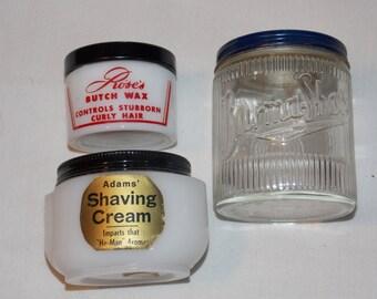 Antique Shaving Cream & Butch Wax Jars
