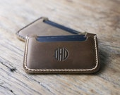 Sleeve Wallet PERSONALIZED WALLET - Front Pocket Double Sleeve Wallet - Great Gift Ideas for Him/Her - Listing #039