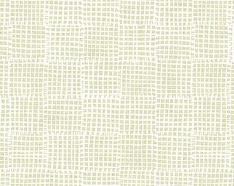 Grid in Neutral- Maker Maker by Sarah Golden- Linen Cotton Blend